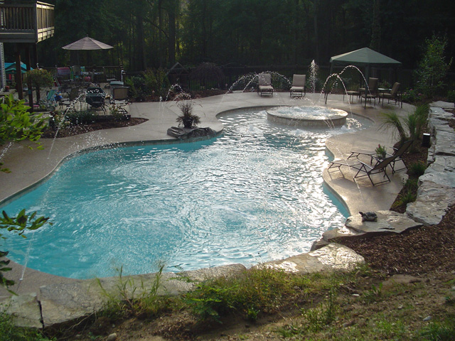 Potoroka Concrete pool decks