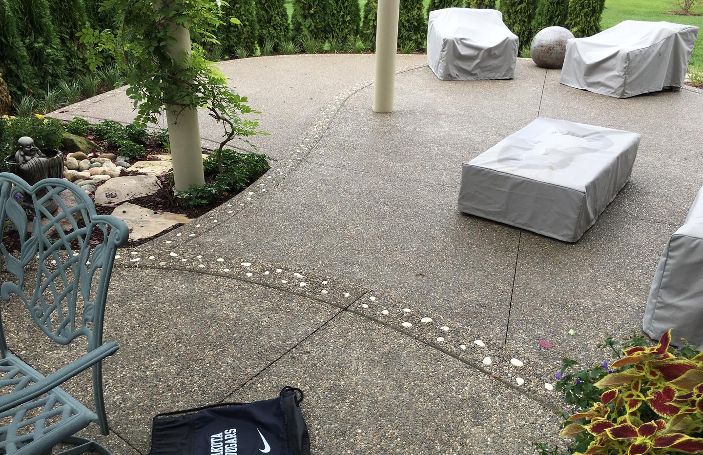 Exposed aggregate concrete photos houzz