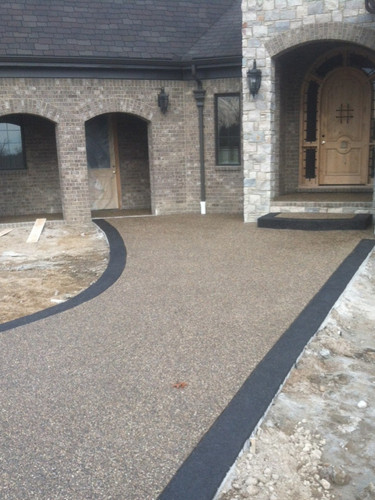 front entrance photo exposed aggregate