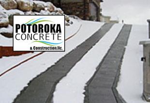 Heated Driveway Photo Tire Track Option