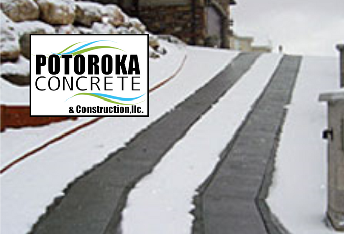 Heated Driveway Photo Tire Track Option