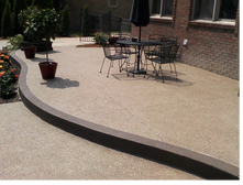 photo exposed aggregate patio