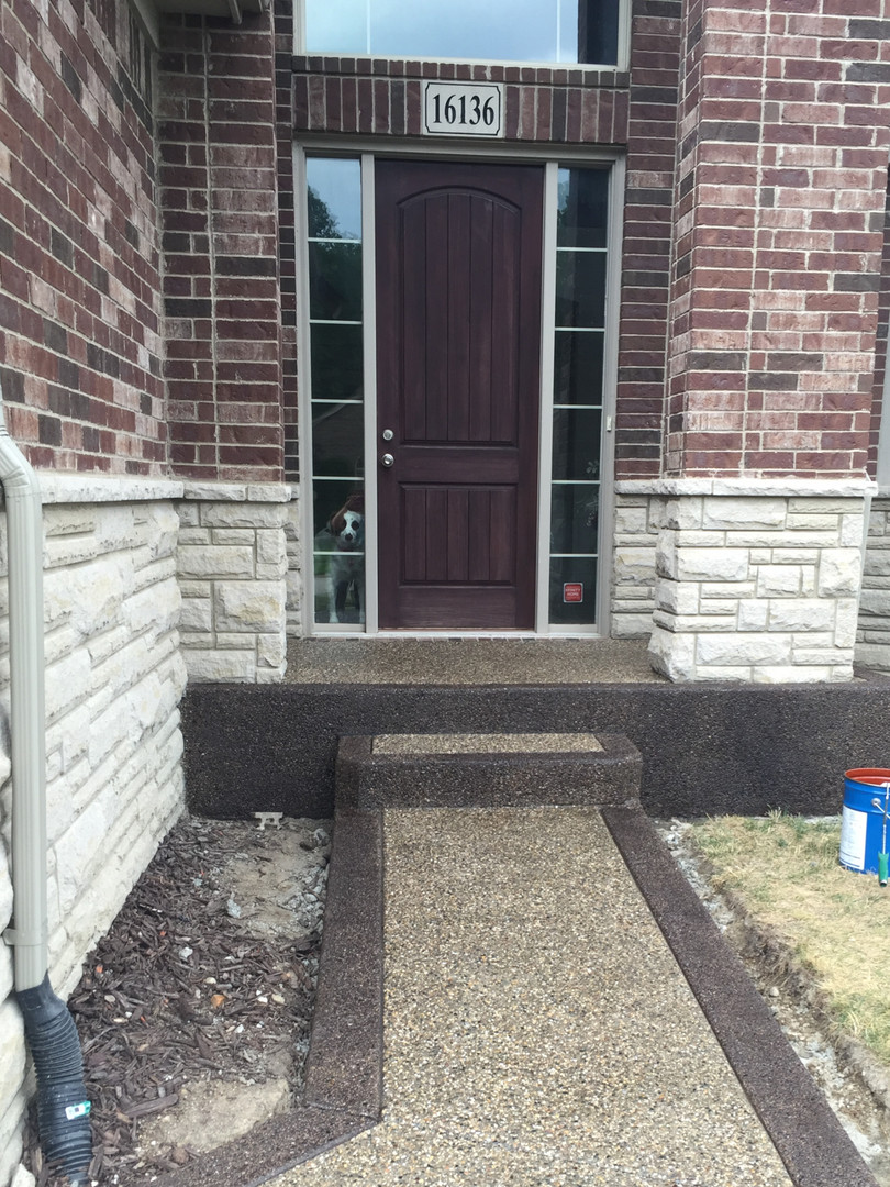 photo exposed aggregate porch