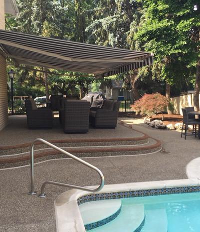 standard concrete pool deck photos negative edge