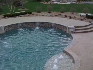 Pool deck by Potoroka Concrete Decor Win