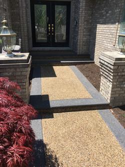 Front entrance potoroka concrete