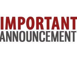 Blog #8 - Important Announcement