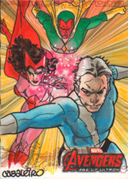quicksilver, scarlet witch & vision