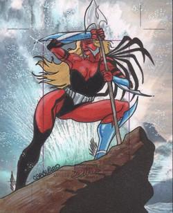Marvel Dangerous Divas Series 2 Artist Proof Commission
