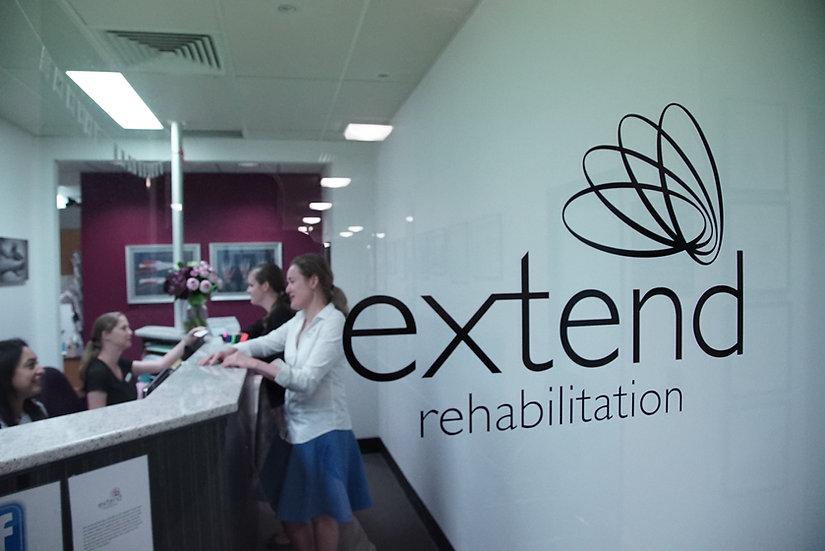 Reception area at Extend Rehabilitation Spring Hill Brisbane