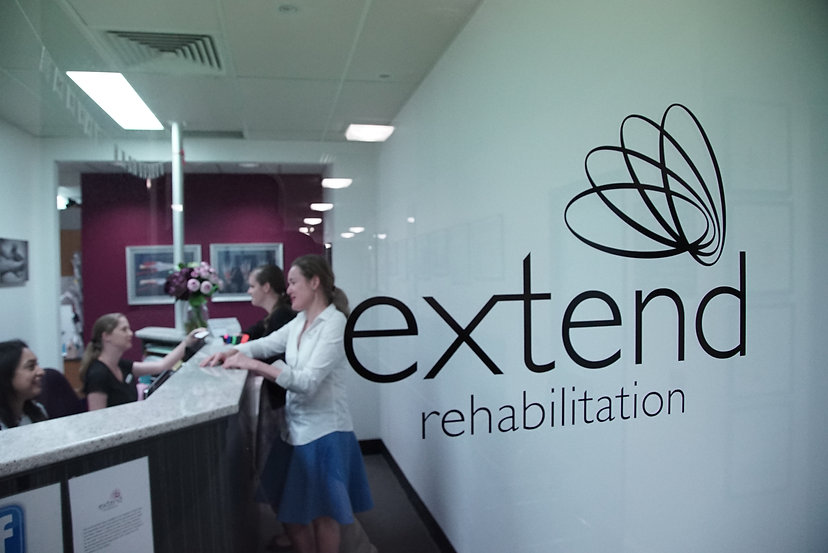Reception area at Extend Rehabilitation Spring Hill Brisbane