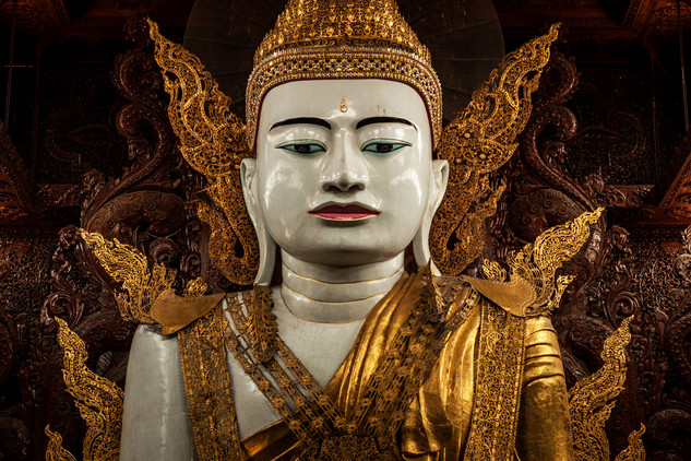 In Myanmar whit the Buddha