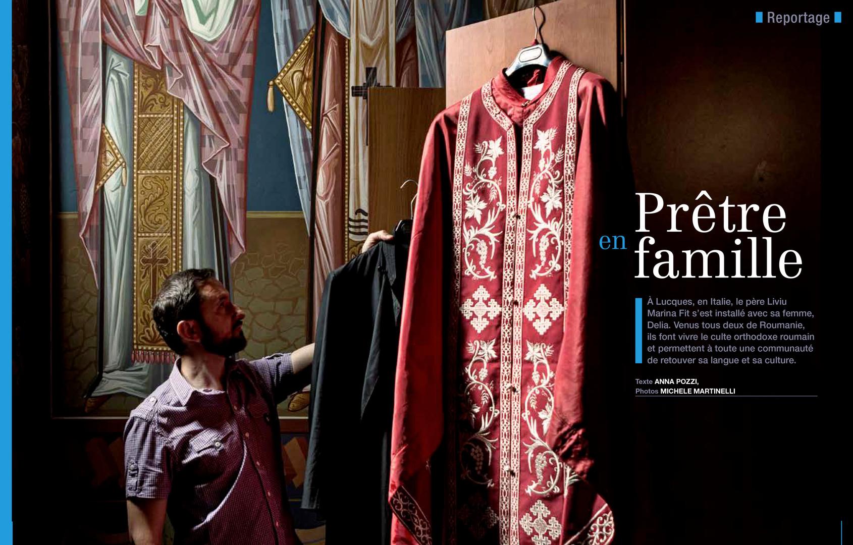 Father Liviu on Prier Magazine