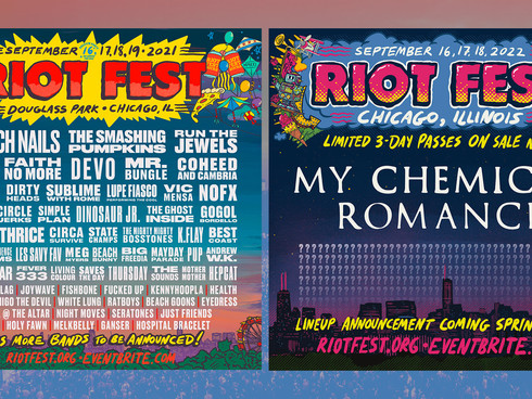 RIOT FEST 2021 LINEUP is here! (Well mostly.)