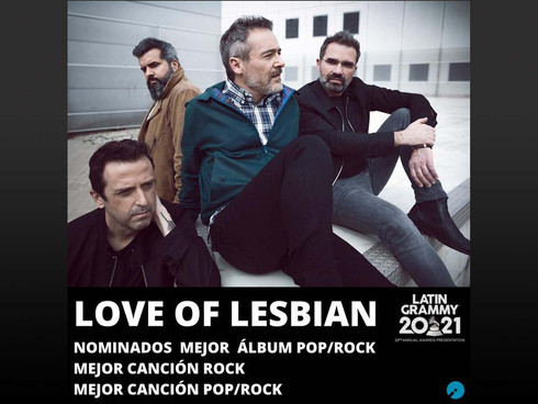 Spain's LOVE OF LESBIAN nominated for 3 GRAMMYs