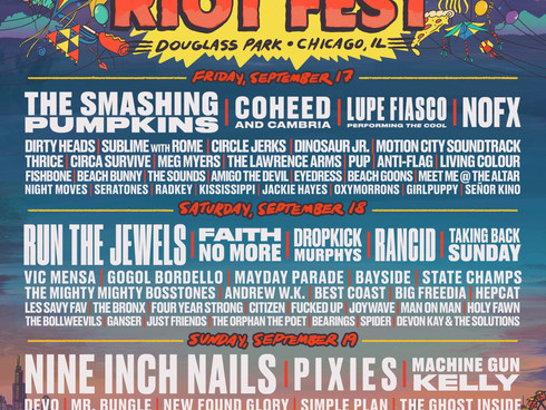 RIOT FEST single day lineups plus more bands!