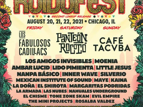 Ruido Fest 2021 Daily lineup: CAFETA, PANTEON, LOS CADILLACS