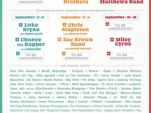 SUMMERFEST 2021 Headliners announced!