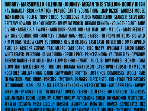 It's back! LOLLAPALOOZA returns for 2021 with FOO FIGHTERS headlining