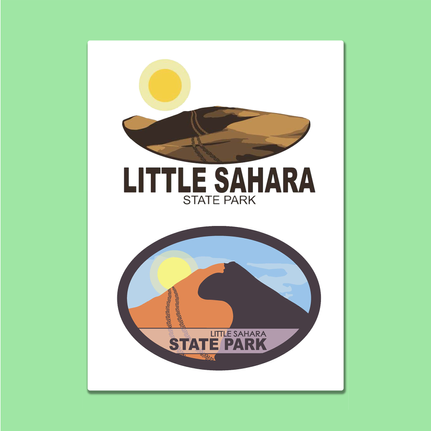 Little Sahara State Park Logo Package