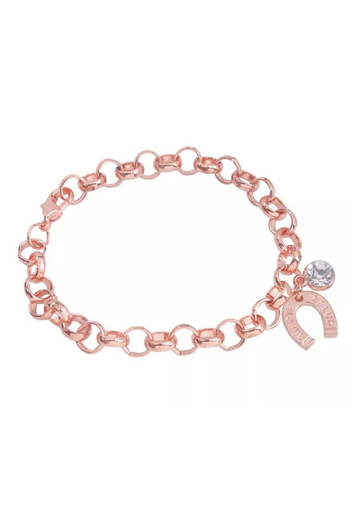 Rose Gold Horseshoe Chain Bracelet