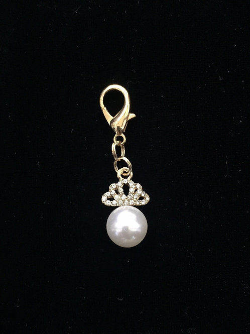 Princess Pearl Crown Bridle Charm