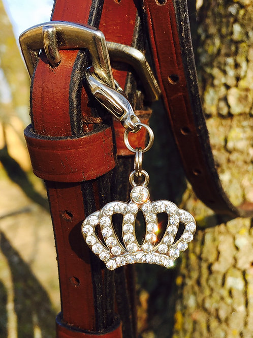 Bling Crown Bridle Charm