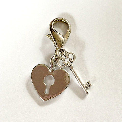 Key to my Heart Bridle Charm