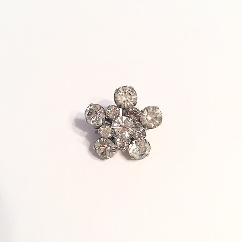 Vintage Small Rhinestone Flower Stock Pin
