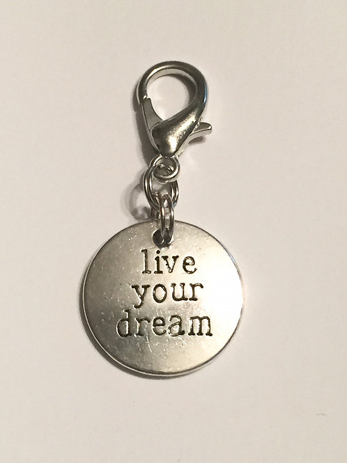 Live Your Dream Bridle Charm