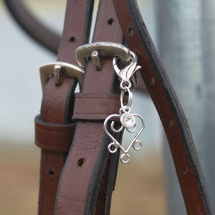 Fancy Love Heart Bridle Charm