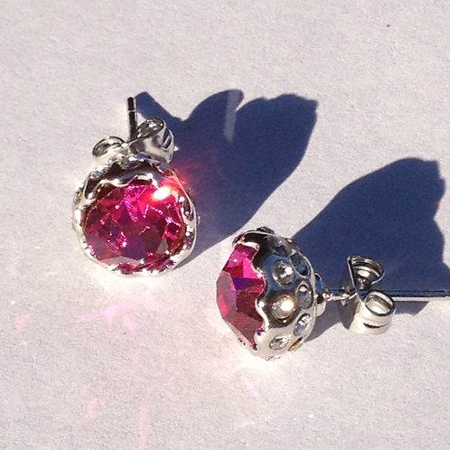 Zara 18K Gold Plated Austrian Pink Crystal Earrings
