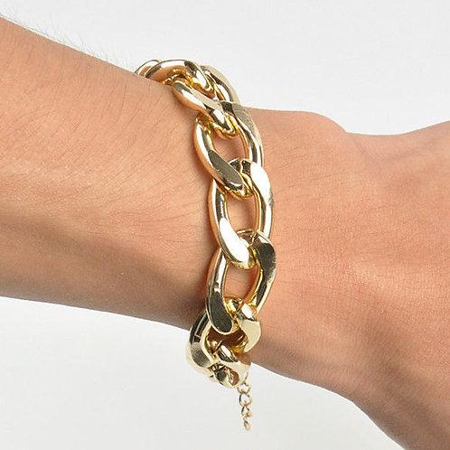 Equestrian Gold Curb Chain Bracelet