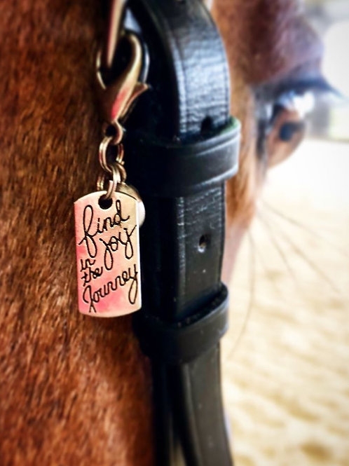 Find the Joy in the Journey Bridle Charm
