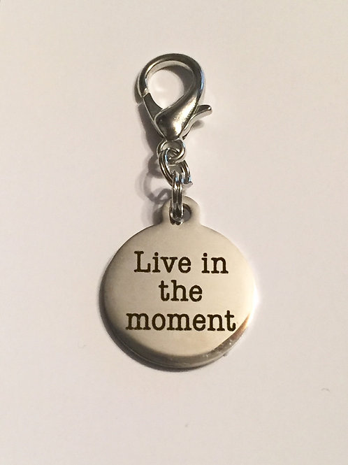 Live in the Moment Bridle Charm