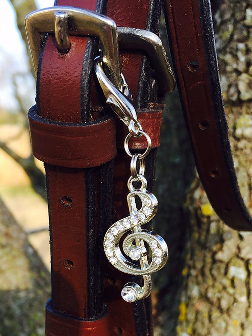 Music of my Heart Bridle Charm