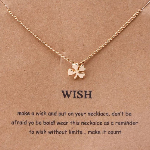 Wish Clover Message Necklace