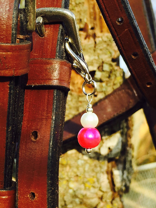 Double Pearl Bridle Charm