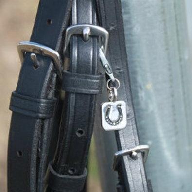 Hoofprint Horseshoe Bridle Charm