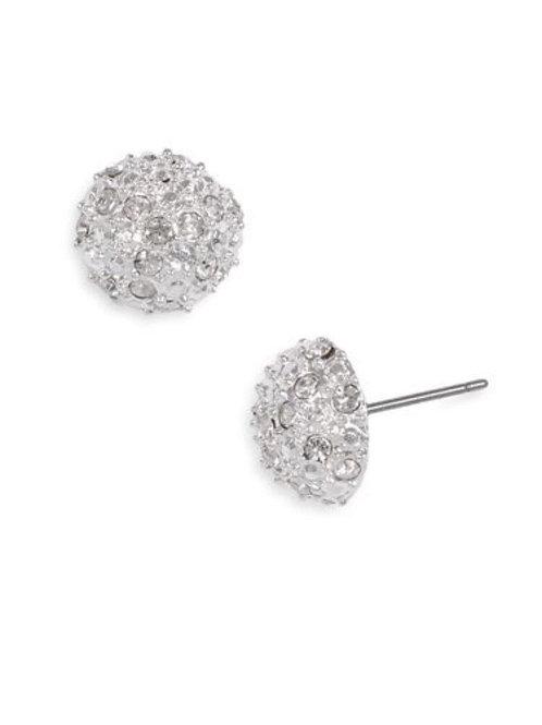 Reed Rhinestone Half Moon Earrings