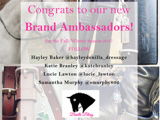 Congrats to our New Brand Ambassadors