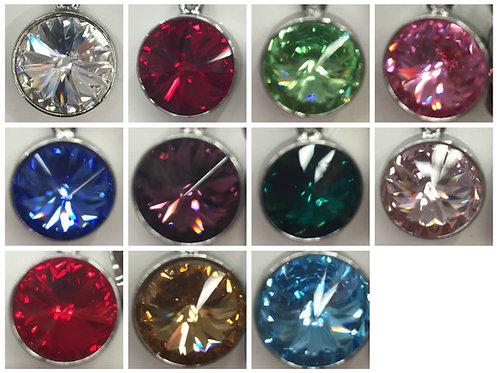 Swarovski Crystal Solitaire Bridle Charm