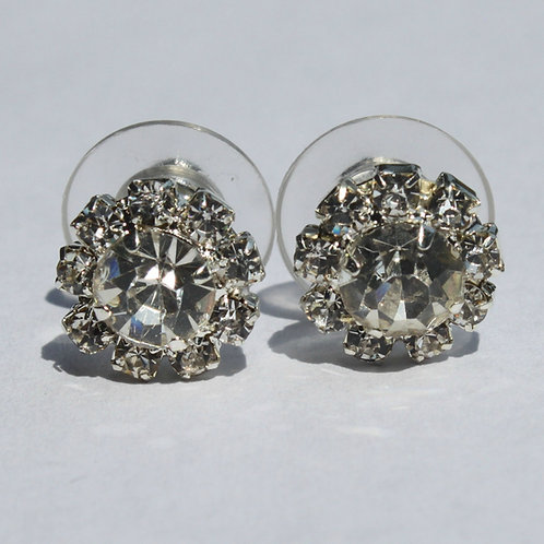 Edwina Rhinestone Cluster Earrings
