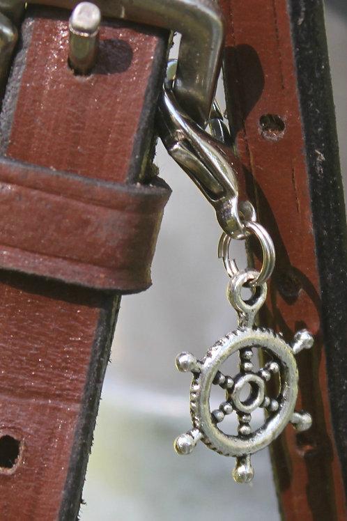 Nautical Wheel Bridle Charm