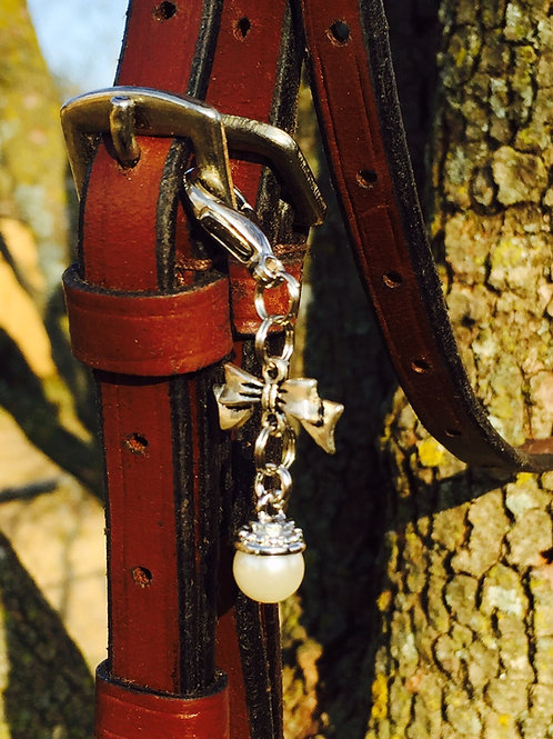 Bows and Pearls Bridle Charm