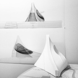Instagram - #architecture #drawing #concept #model #bnw #concrete #shell #fabric