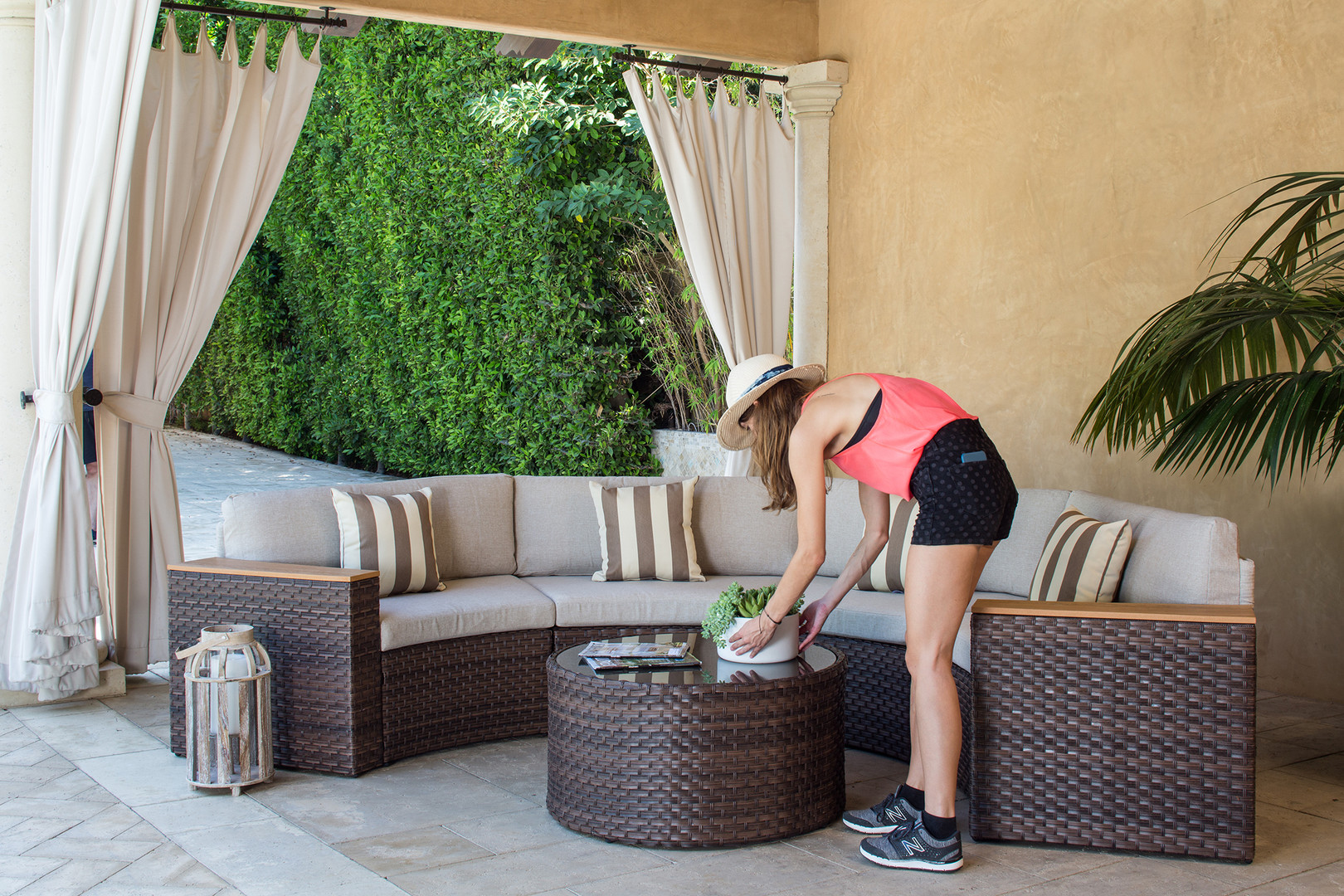Kelly Martin Styling Outdoor Furniture for Amazon