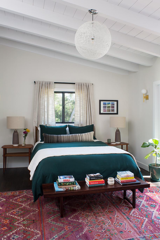 Kelly-Martin-Interiors-Bedroom-Moroccan-Purple-Rug-Area-Home-Bedding