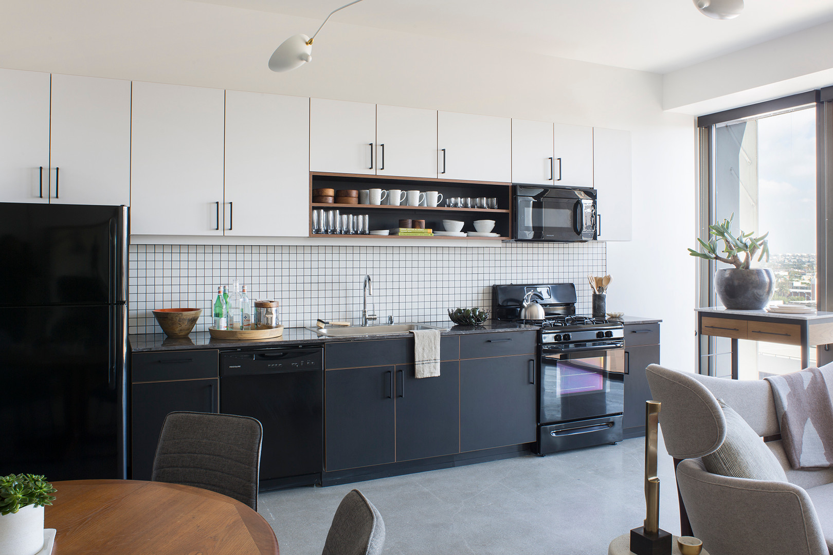 Black White Industrial Modern Kitchen