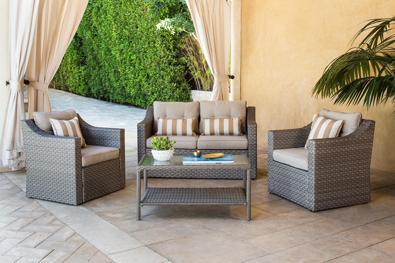 Patio 4 Piece Set for Solara Furniture